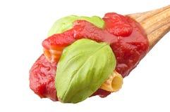 Sauce with maccaroni Stock Photos