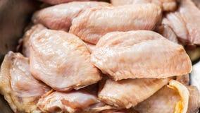 Sauce marinée crue à aile de poulet Photographie stock libre de droits