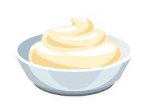 sauce mayonnaise ilustração royalty free