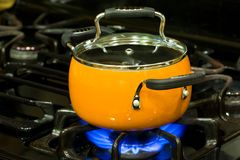 Sauce pan Stock Photo