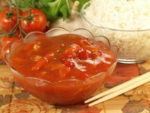 Sauce for rice Royalty Free Stock Image