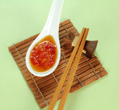 Sauce à s/poivron douce Photos libres de droits