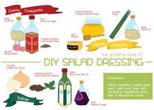 Sauce salade de DIY 1 Photographie stock libre de droits