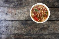 Sauce thaïlandaise à fruits de mer Images stock