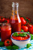 Sauce tomate Photographie stock