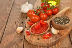 Sauce tomate Photo stock