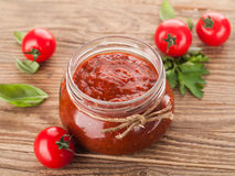 Sauce tomate (bourrage) Image stock