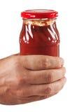 Sauce tomate de choc à disposition Photographie stock libre de droits