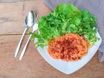 Sauce tomate de spaghetti Image libre de droits