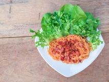 Sauce tomate de spaghetti Images libres de droits