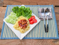 Sauce tomate de spaghetti Photos stock