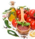 Sauce tomate faite maison photographie stock libre de droits