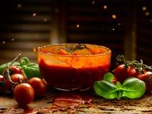 Sauce tomate faite maison Photo libre de droits