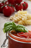 Sauce tomato for mediterranean diet Royalty Free Stock Image