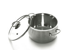 Saucepan. The saucepan with its lid Royalty Free Stock Photo