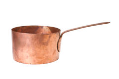Saucepan. Vintage bronze saucepan, cooking pot Royalty Free Stock Image