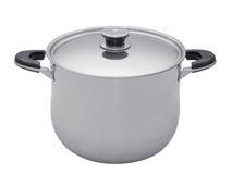 Saucepan. Gray royalty free stock image