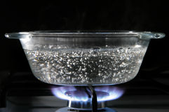 Saucepan de vidro Fotografia de Stock Royalty Free