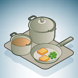 Saucepan & frying pan Stock Images