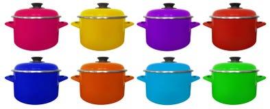 Saucepan isolated - colorful Stock Photo