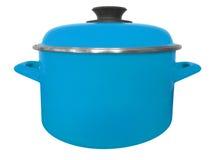 Saucepan isolated - light blue Stock Image