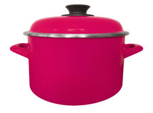 Saucepan isolated - pink Royalty Free Stock Images