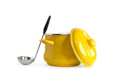 Saucepan And Ladle Stock Photography
