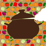 Saucepan on seamless background Stock Photo
