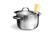 Saucepan with spaghetti Royalty Free Stock Photos