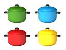 Saucepans Stock Image