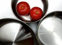 Saucepans isolados Imagens de Stock Royalty Free