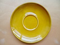 Saucer ceramic. For food and beverage Stock Photography