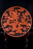 Saucer chinês decorativo no carrinho Fotos de Stock Royalty Free