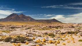 Saucer clouds in the Atacama desert Royalty Free Stock Images