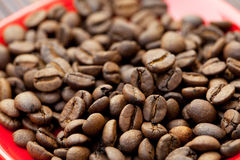 saucer and coffee beans Stock Photo