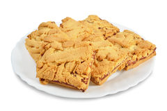 Saucer with cookies Royalty Free Stock Photos