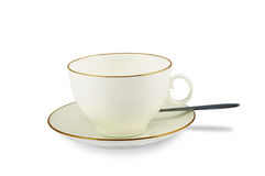 Saucer e Teaspoon do copo Imagem de Stock