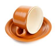 saucer för kaffekopp Royaltyfria Foton