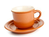 saucer för kaffekopp Fotografering för Bildbyråer