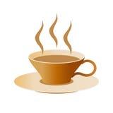 saucer för kaffekopp Arkivbild
