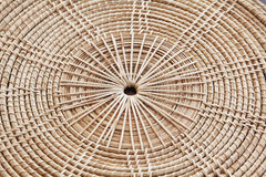 Saucer. Form bamboo by handmade stock image