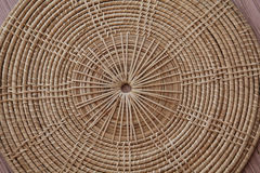 Saucer. Form bamboo by handmade Royalty Free Stock Image