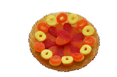 Saucer mit Süßigkeiten Lizenzfreie Stockfotografie