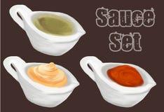 Saucer set vector illustration Stock Image
