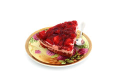Saucer with a slice of cake Royalty Free Stock Photography