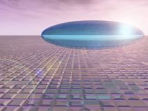 Saucer on the Venon Grid. A Flying Saucer on the fiction Venon Grid Stock Images