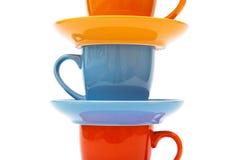 saucers för kaffekoppar Royaltyfri Bild