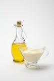Sauces à huile d'olive et sauce au fromage crème Photos libres de droits