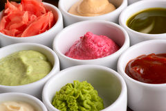 Sauces collection Stock Image