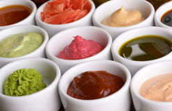 Sauces collection royalty free stock photos